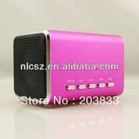 Free shipping + New Music Portable Mini USB Micro SD/TF music Player without screen, digital Speaker& computer speaker