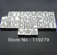 1300pcs 8mm A-Z  square Slide letters Charm DIY Accessories