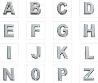 Wholesale 1300pcs Internal Dia. 10mm Chrome DIY Slide letter ENGLISH alphabet letter