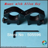 Free Shipping+50 Pairs/Lot  PL 25.4mm Aluminum Alloy Scope with Allen Key