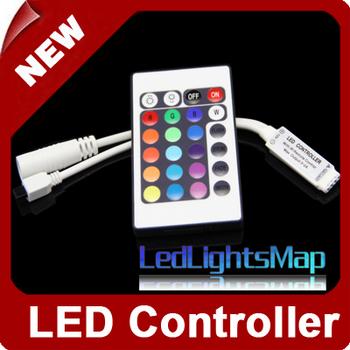 Mini LED RGB Controller DC12V 6A IR 24 key remote control unit controls[LedLightsMap ]
