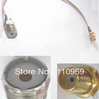Antenna manufacturer+UHF Female to SMA Female Nut Bulkhead RG316 Pigtail