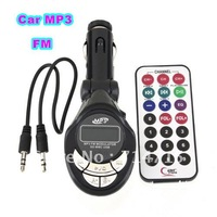 5pcs 206 Channels 12/24V Car MP3 Player Wireless FM Transmitter With USB SD MMC Card Slot