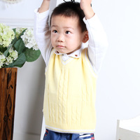 100% cotton sweater vest folder sweater sweetheart neckline twisted 0215