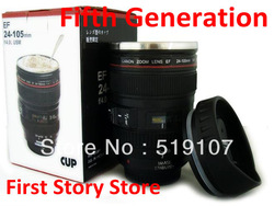 Wholesale CPAM stainless steel Coffee camera lens mug cup (Caniam) logo the 5th generation Novelty gift cup mug 60pcs/lot G403(China (Mainland))