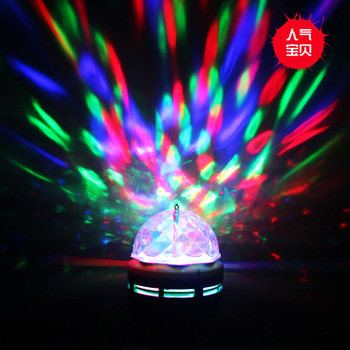 2013 E27 Colorful Rotating RGB LED Spot Light Bulb Lamp for Party decorations Crystal Ball Effect light DJ Stage Free Shipping