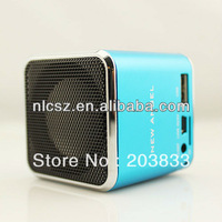 New Music Portable Mini USB Micro SD/TF Mp3 Player New Blue Mini TF Micro SD FM Radio Music Stereo Speaker