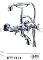 Bath shower Faucet Solid Brass Chrome finish Mixer Tap Luxury Bathroom Shower set HM8164 (5 years warranty)
