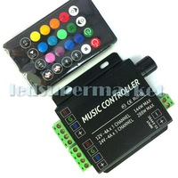 DC 12V / 24V RGB LED Music Controller 24key Remote Sound Sensor For strip light