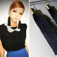 Minimum order amount is $10 (mixed order) Vintage Black Tassel Earrings multicolor