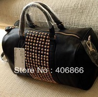 New Free shipping Mango women's handbag mng bag mango metal rivet women's handbag bag shoulder bag