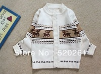 3pcs/lot wholesale 2012 new arrival baby boy's Christmas cardigans children high quality sweaters kids outwears Free shipping