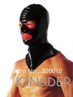 Latex hood rubber mask with open eyes and mouth