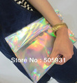 2013 free shipping fashion clutch bag, colorful laser envelop bag,phone bag,1pc 1lot,wholesale