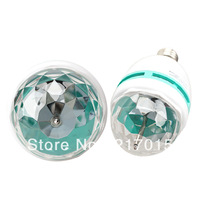 E27 Full Color Rotating 3 LED Lamp Bulb 3W RGB Projection Lamp Stage Light New
