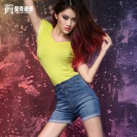 Summer high waisted denim jeans the three-dimensional cut slim women's jeans denim shorts jeans women fashion 2013