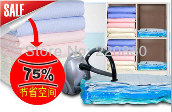 6PCS/LOT Vacuum compressed bag Vacuum storage bag Dust cover organizer Space saving bag quilt storage bag down coat winter100*70