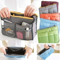 wholesale hot selling 100pcs Women Travel Handbag Purse Large Liner Organizer Bag buggy bag DHL/Fedex free shipping