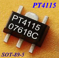 Free shipping  50pcs/lot  PT4115 LED driver IC constant-current driver SOT - 89-5 IC ,100% New and  good qualtity