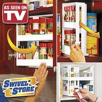 Free Shipping 24pcs/lot Swivel Store Spice Rack As Seen On TV Swivel Store Space Saving Cabinet Organizer