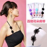 flower halter-neck pectoral girdle all-match brief underwear shoulder strap detachable Min order $10(mixed order)