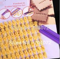 wholesale-Free shipping on sales Alphabet Numbler letter cookie biscuit stamp embosser cutter cake fondant DIY MOLD