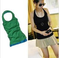 free shipping all-match 100% halter-neck cotton spaghetti strap racerback o-neck halter-neck vest basic vest shirt female summer