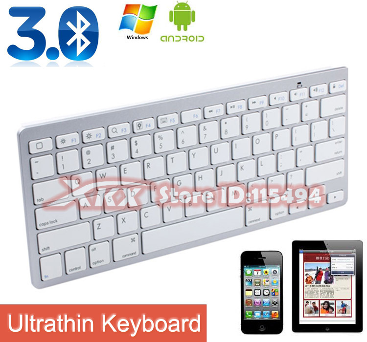 Wireless Bluetooth Keyboard for Apple iPad 2 iPhone PC SANSUMY,Free shipping(China (Mainland))