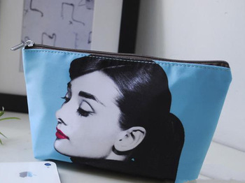 Free Shipping !candy color  Audrey Hepburn  and Marilyn Monroe cosmetic bag /Make up case Fashion Handbag