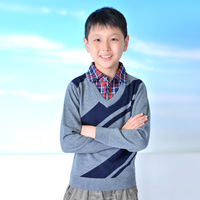 Ts-857 winter male child sweater basic shirt thermal fashion faux two piece sweater