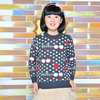 2012 women's child shirt child sweater cashmere thermal shirt all-match sweater