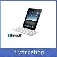 Hot seling!Free shipping White Bluetooth Wireless Keyboard for ipad 2 PC tablet Macbook phone Bluetooth version 3.0
