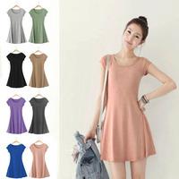 2014 NEW fashion women plus size summer black pink green khaki purple deep-grey grey blue Bordeaux one piece short sleeve dress