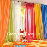 free shipping,high quality european gauze curtain,finished transparent voile curtain,140cm*245cm solid tulle,4 pcs/lot,20 color