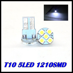 Wholesale T10 1210 5SMD Canbus Indicator Light Car Interior Lamp Automobile Wedge LED Bulbs(China (Mainland))