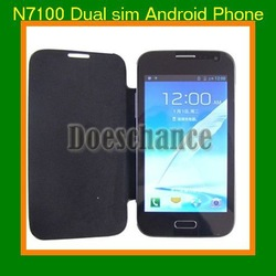 "SG HK Post free shipping Note II N7100 GT-N7100 5"" Capacitive touch screen Dual sim Dual camera 8MP Android 4.1.2 Smartphone(China (Mainland))"