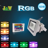 10w 20W 30w 85-265V RGB Flood LED Light Projection lamb Flash Landscape Floodlight Outdoor Color Change Free Shipping
