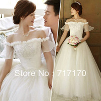 New arrival mermaid for Women's Wedding dress princess White lace dresses Free shipping