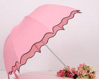 UV Protection Sun Umbrella,Three Folding Flouncing Umbrellas UU-04