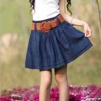 Casual Fashion The Skirt Women Above-the-knee Denim Skirt Korea Short Jeans Skirt Shorts