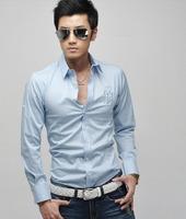 2014 New Men's Shirt Fashion Casual Slim Fit Stylish Cotton Long Sleeve Dress Shirts Luxury SL13032212