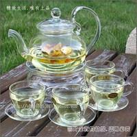 Heatresisting herbal tea set glass tea set pot teapot cup set glandes
