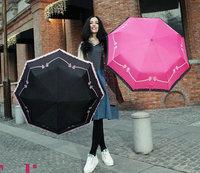 UV Protection Sun Umbrella,Three Folding Bow Lace Umbrellas UU-05