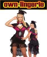 sexy 4 pcs saloon girl festival costume,s-xxxl fancy dress,vampire costume,burlesque costume,free shipping