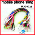 WHOLESALE Neck Strap SLING mobile cell phone rope cord cute smile colorful Lanyard promotion gift 200pcs/lot say hi 2RX 30225