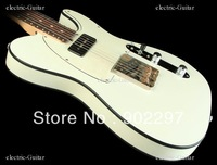 Antique Electric Guitar RW FB White w/ Black Binding