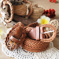 Bohemia fashion all-match braiding straw beach strap bianzi belt free shipping