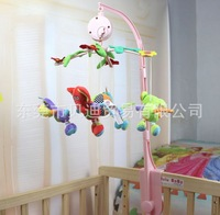 Free shipping Forest animal rotating music music box bed bell,A newborn baby plush toys