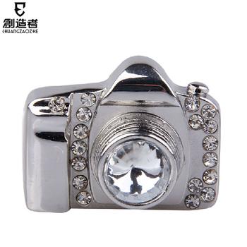Usb flash drive fashion crystal 4g slr camera usb flash drive rhinestone usb flash drive