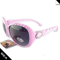 8836 gentle fashion twisted frames women's sunglasses sun-shading mirror